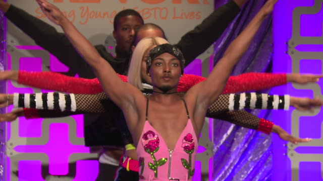 PERFORMANCE Jelani Mizrahi Relish Milan Lolita Balenciaga Precious Ebony Tati 007 and Alex Mugler perform at The Trevor Project TrevorLIVE NY 2018 at...