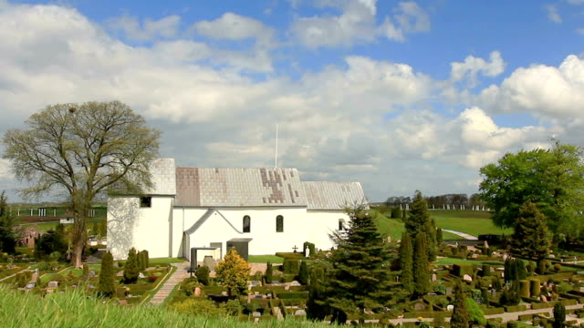 Jelling iglesia y piedras de la humanidad de la UNESCO