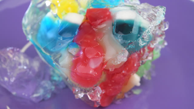 jelly and gummies sweet food for children - gelatin stock videos & royalty-free footage