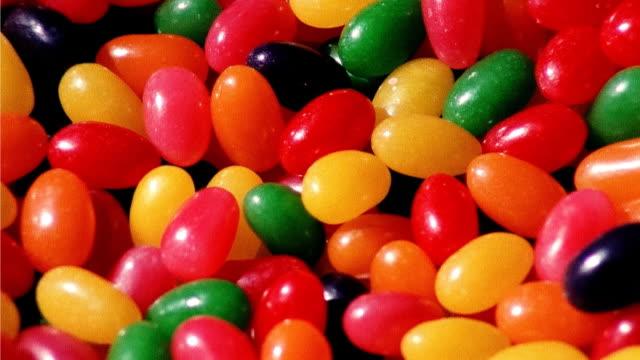 jelly beans, full frame - ジェリービーンズ点の映像素材/bロール