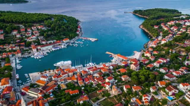 AERIAL: Jelsa Town, Island Hvar in Croatia