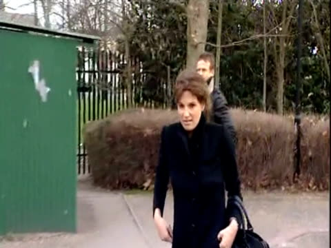 jemima khan and former labour party cabinet minister tony benn arrive at belmarsh magistrates' court to support wikileaks founder julian assange... - court hearing stock videos and b-roll footage