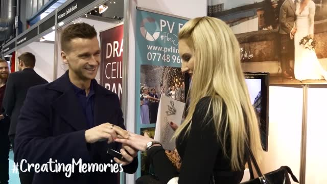 jen hamilton was treated to a fitting surprise at the scottish wedding show in glasgow on february 24 when her boyfriend craig macdonald got down on... - boyfriend stock videos & royalty-free footage