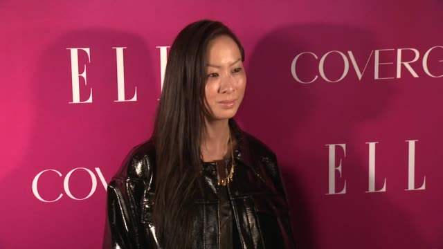 jen kao at 4th annual elle women in music celebration arrivals at the edison ballroom on april 10 2013 in new york new york - edison ballroom stock videos & royalty-free footage
