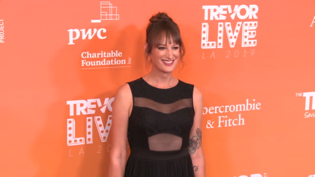 jen richards at the trevor project's trevorlive la 2019 in los angeles ca - jen richards stock videos & royalty-free footage
