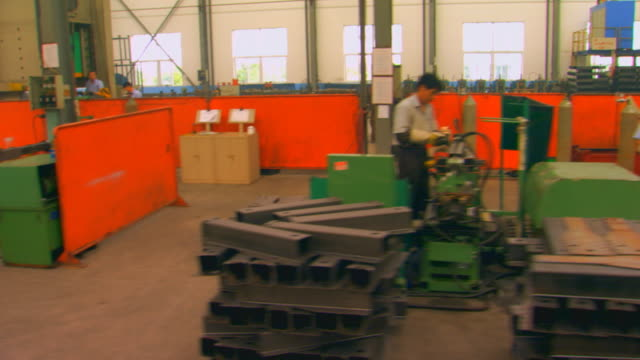 Jenging, ChinaFactory work areas, dolly shot