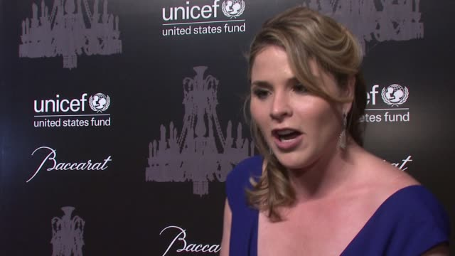 jenna bush hager talks about starting the unicef next generation and importance of unicef's work at the ninth annual unicef snowflake ball at... - cipriani manhattan stock videos & royalty-free footage