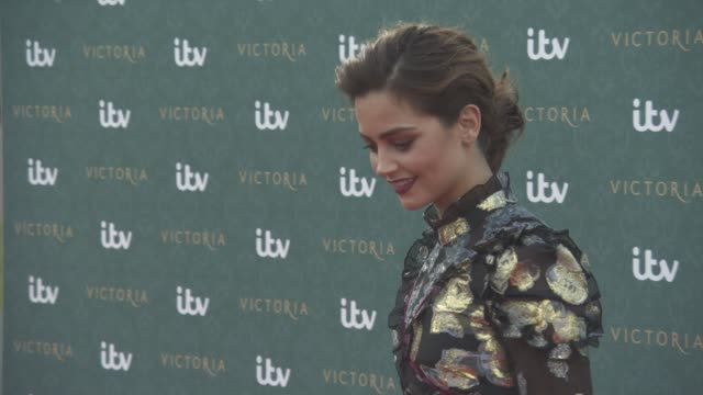 Jenna Coleman at 'Victoria' Premiere Screening and Red Carpet at Kensington Palace on August 11 2016 in London England