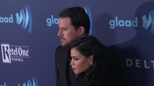 Jenna Dewan and Channing Tatum at the 26th Annual GLAAD Media Awards at The Beverly Hilton Hotel on March 21 2015 in Beverly Hills California