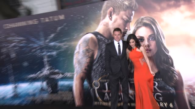 Jenna Dewan and Channing Tatum at the Jupiter Ascending Los Angeles Premiere at TCL Chinese Theatre on February 02 2015 in Hollywood California