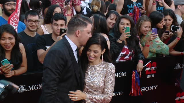 Jenna DewanTatum Channing Tatum at 22 Jump Street Los Angeles Premiere at Regency Village Theatre on June 10 2014 in Westwood California