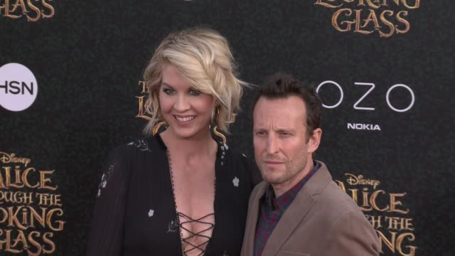 "jenna elfman and bodhi elfman at the ""alice through the looking glass"" los angeles premiere at the el capitan theatre on may 23, 2016 in hollywood,... - bodhi elfman stock videos & royalty-free footage"