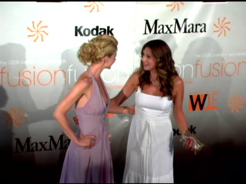 jenna elfman and daisy fuentes at the fusion, the 2005 crystal and lucy awards presented by women in film at the beverly hilton in beverly hills,... - jenna elfman stock videos & royalty-free footage