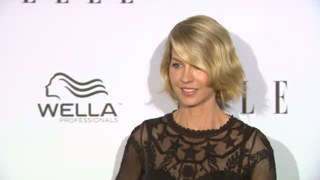 jenna elfman at elle's 2nd annual 'women in television' celebration 1/24/2013 in west hollywood ca - jenna elfman stock videos & royalty-free footage