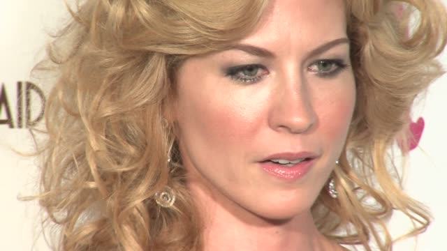 jenna elfman at the 14th annual elton john aids foundation oscar party co-hosted by audi, chopard and vh1 at the pacific design center in west... - jenna elfman stock videos & royalty-free footage