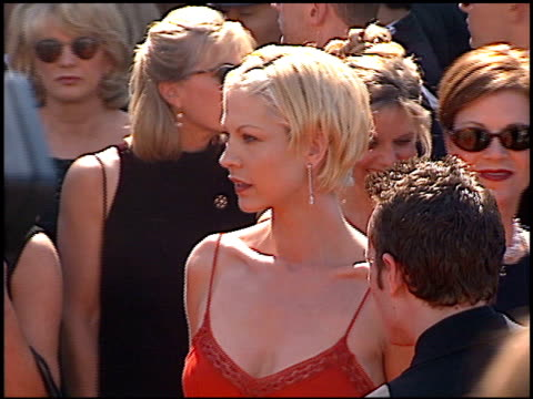 jenna elfman at the 1998 emmy awards at the shrine auditorium in los angeles, california on september 13, 1998. - jenna elfman stock videos & royalty-free footage