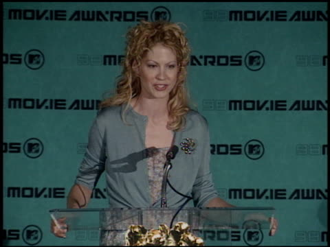 Jenna Elfman at the 1998 MTV Movie Awards Pool Feed at Barker Hanger in Santa Monica California on May 30 1998