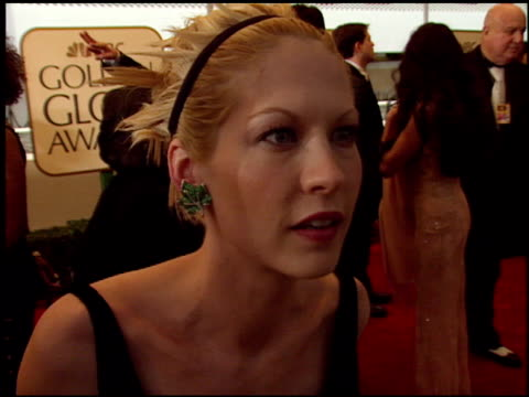 jenna elfman at the 1999 golden globe awards at the beverly hilton in beverly hills california on january 24 1999 - jenna elfman stock videos & royalty-free footage