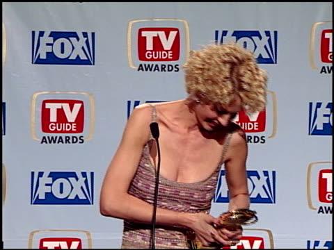 jenna elfman at the 1999 tv guide awards press room at fox studios in century city, california on february 1, 1999. - jenna elfman stock videos & royalty-free footage