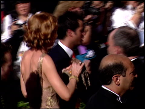 jenna elfman at the 2000 emmy awards at the shrine auditorium in los angeles california on september 10 2000 - jenna elfman stock videos & royalty-free footage