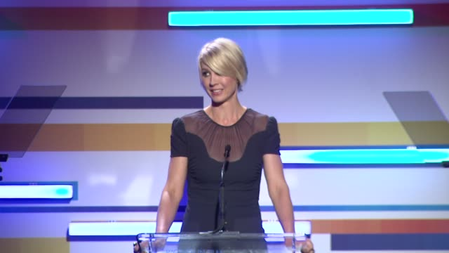 jenna elfman at the 2012 women in film crystal lucy awards speech jenna elfman at the 2012 women in film cry at the beverly hilton hotel on june 12... - the beverly hilton hotel stock videos & royalty-free footage