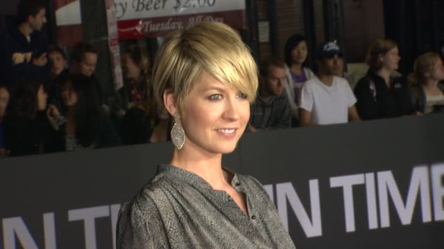 jenna elfman at the 'in time' los angeles premiere at westwood ca - jenna elfman stock videos & royalty-free footage
