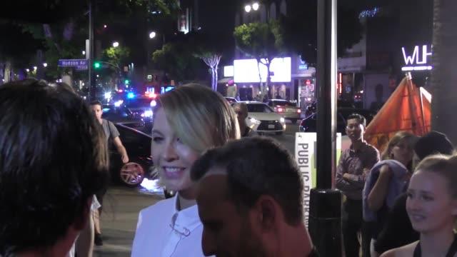 Jenna Elfman Bodhi Elfman arrive at No Vacancy Nightclub in Hollywood in Celebrity Sightings in Los Angeles