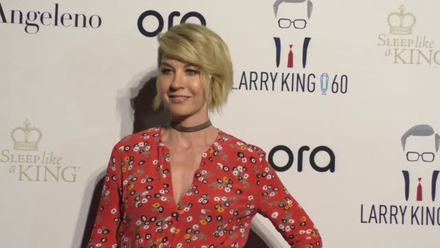 Jenna Elfman Bodhi Elfman at Larry King's 60th Anniversary in Broadcasting on May 01 2017 in Los Angeles California