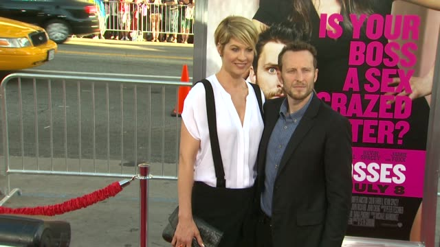 jenna elfman, bodhi elfman at the 'horrible bosses' - los angeles premiere at hollywood ca. - bodhi elfman stock videos & royalty-free footage
