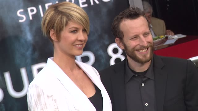 jenna elfman bodhi elfman at the 'super 8' premiere at westwood ca - jenna elfman stock videos & royalty-free footage