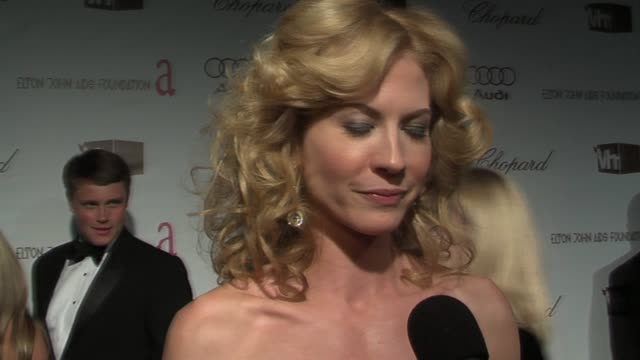 Jenna Elfman on being excited about Crash winning at the 14th Annual Elton John AIDS Foundation Oscar Party Cohosted by Audi Chopard and VH1 at the...