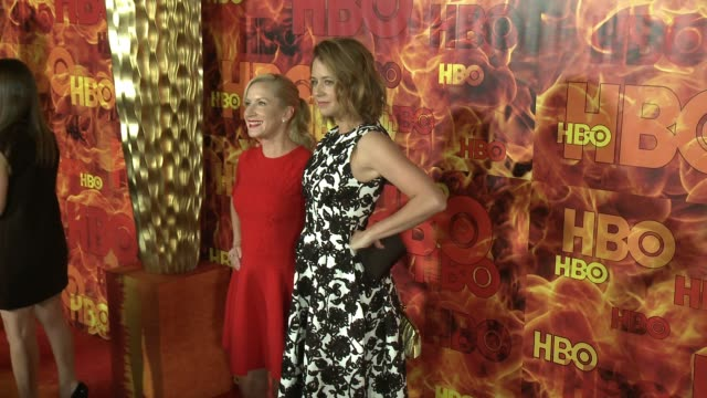jenna fischer and angela kinsey at the 2015 hbo emmy after party at the plaza at the pacific design center on september 20 2015 in los angeles... - angela kinsey stock videos and b-roll footage