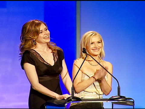 jenna fischer and angela kinsey on editors at the 57th ace eddie awards on february 18 2007 - angela kinsey stock videos and b-roll footage