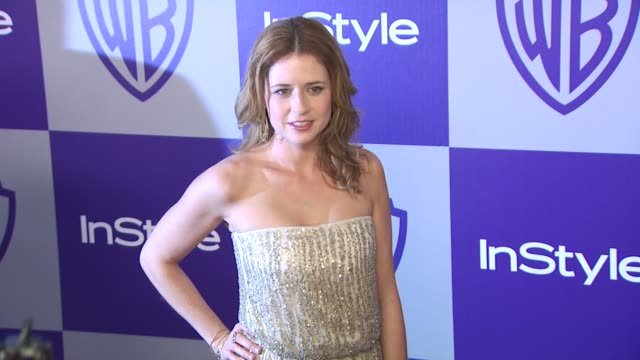 vídeos y material grabado en eventos de stock de jenna fischer at the warner bros and instyle golden globe afterparty at beverly hills ca - warner bros