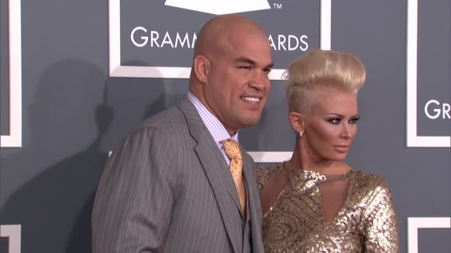 Jenna Jameson and Tito Ortiz at The 55th Annual GRAMMY Awards Arrivals in Los Angeles CA on 2/10/13