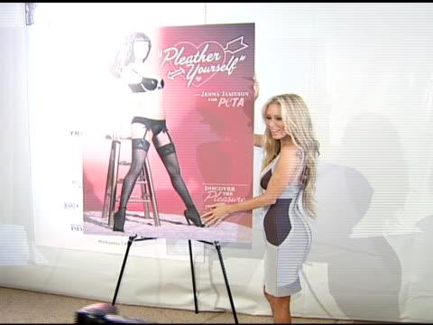 Jenna Jameson at the Jenna Jameson Unveils PETA Ad at Smashbox Studios in Los Angeles California on March 10 2008