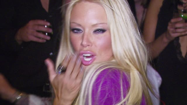 jenna jameson at the the playboy club vip grand opening at the palms hotel and casino at the palms hotel casino in las vegas nevada on october 7 2006 - playboy magazine stock videos & royalty-free footage