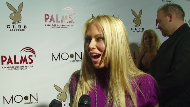 Jenna Jameson on the Playboy Club opening on her company being part of the Playboy family at the The Playboy Club Vip Grand Opening at The Palms...