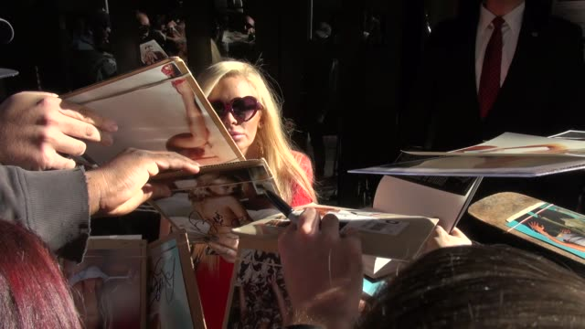 Jenna Jameson with fans outside the 'Good Day New York' studio