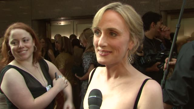 jenna russell on being nominated tonight what makes the tony's so special who she is routing for and loving whoopi goldberg at the 62nd annual tony... - annual tony awards stock videos & royalty-free footage