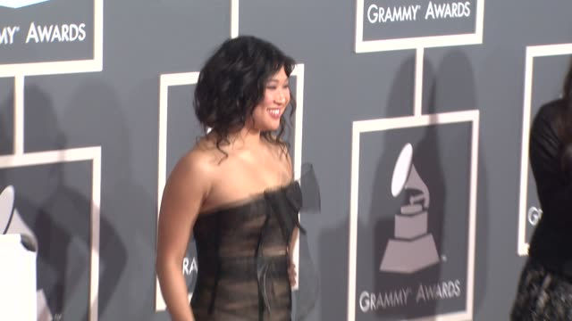 Jenna Ushkowitz at the 53rd GRAMMY Awards Arrivals at Los Angeles CA