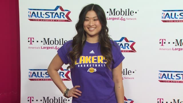 Jenna Ushkowitz at the TMobile Magenta Carpet At The 2011 NBA AllStar Game at Los Angeles CA