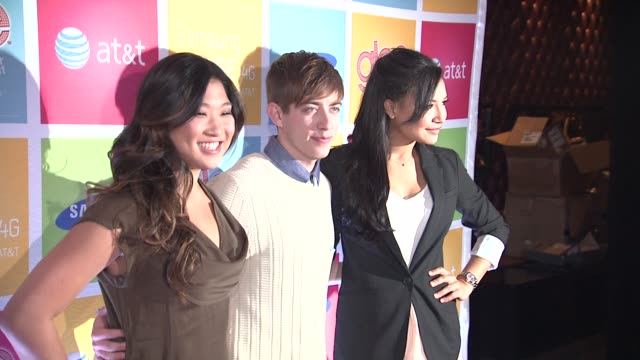Jenna Ushkowitz Kevin McHale and Naya Rivera at the GLEE's William McKinley High School Comes To Life At The First Ever 'SAMSUNG ATT SPRING FLING' at...