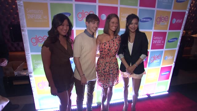Jenna Ushkowitz Kevin McHale Molly Habich and Naya Rivera at the GLEE's William McKinley High School Comes To Life At The First Ever 'SAMSUNG ATT...