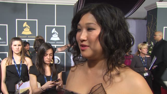 Jenna Ushkowitz on Glee's nomination who she is looking forward to seeing perform what she thinks about Gwyneth Paltrow performing with CeeLo what...