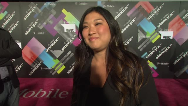 Jenna Ushkowitz on if she's a Sidekick fan on what she uses her phone for most and on what she's looking forward to tonight at the TMobile Sidekick...