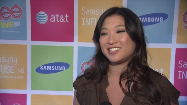 Jenna Ushkowitz on tonight's event on Samsung and ATT connecting them with their fans On meeting the fans and how much fun they have getting to talk...