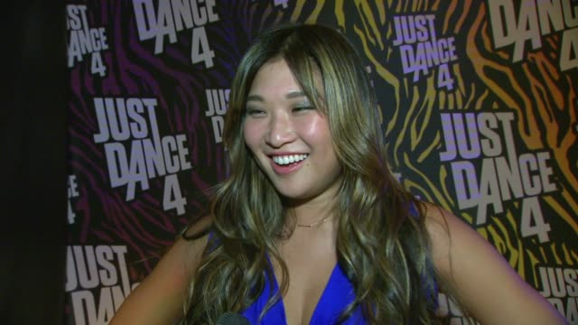 Jenna Ushkowitz on what she thought of the game Just Dance 4 how she liked the music in the game being a part of the Entertainment Weekly party his...