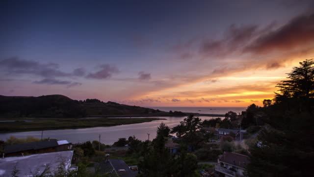 Jenner, California at Sunset - Time Lapse