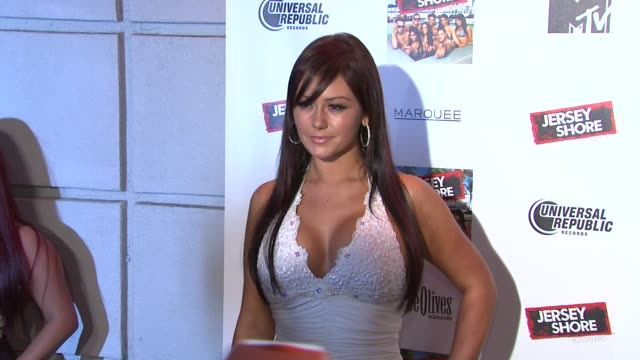 jenni 'jwoww' farley at the 'jersey shore' soundtrack release party at new york ny - soundtrack stock videos & royalty-free footage